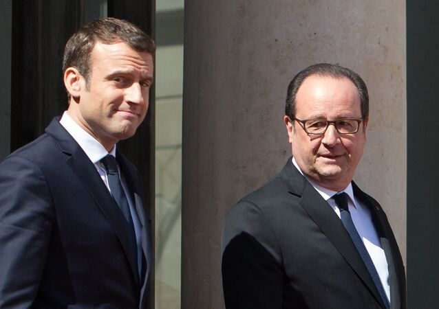 Hollande et Macron