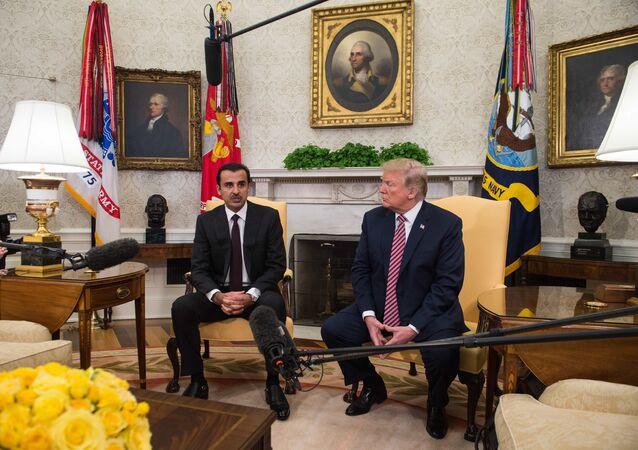 Tamim ben Hamad al-Thani et Donald Trump