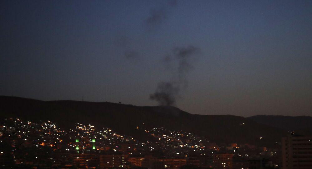 L'attaque de missiles de la coalition parée par la DCA syrienne