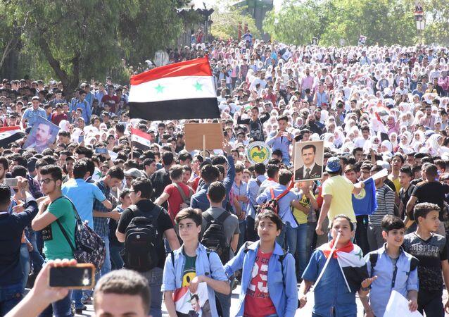 Les Syriens ont dit aux agresseurs: «Nous n'avons pas peur de vous»