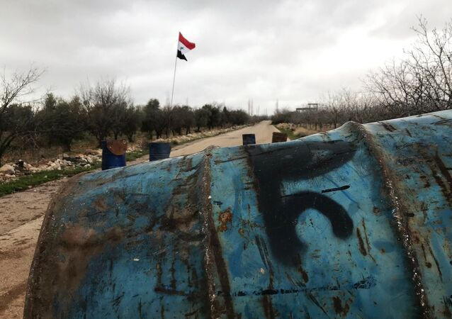 Un point de passge dans le gouvernorat de Quneitra, non loin de la frontière avec Israël