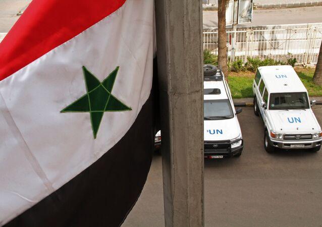 L'équipe de sécurité de l'Onu en Syrie. Photo d'archive