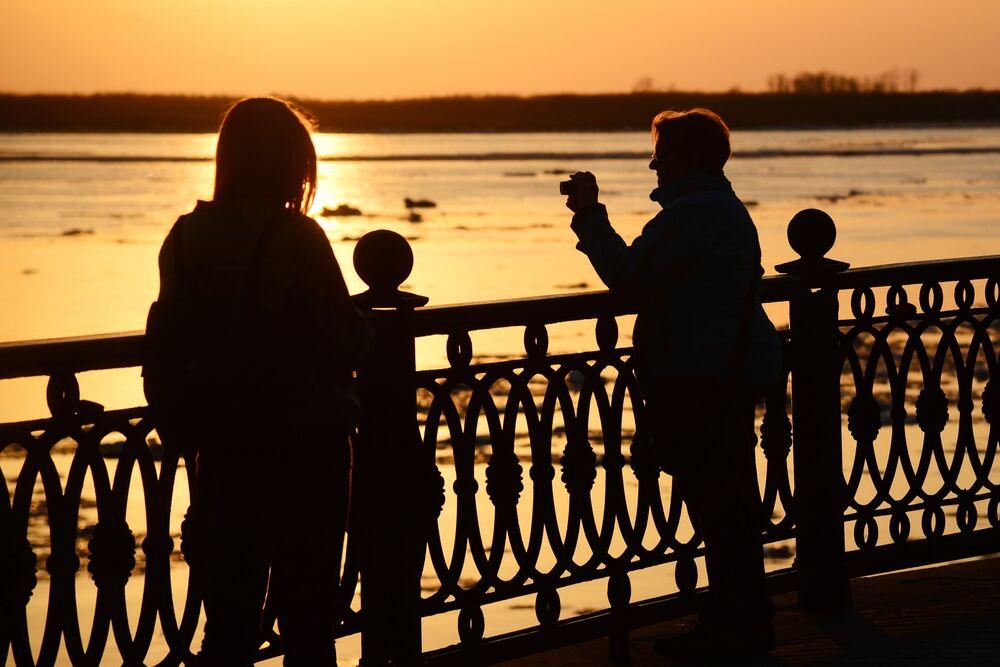 Débâcle sur le fleuve Amour