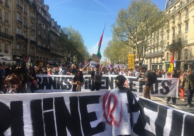 Manifestation interprofessionnelle à Paris contre la régression sociale le 19 avril 2018