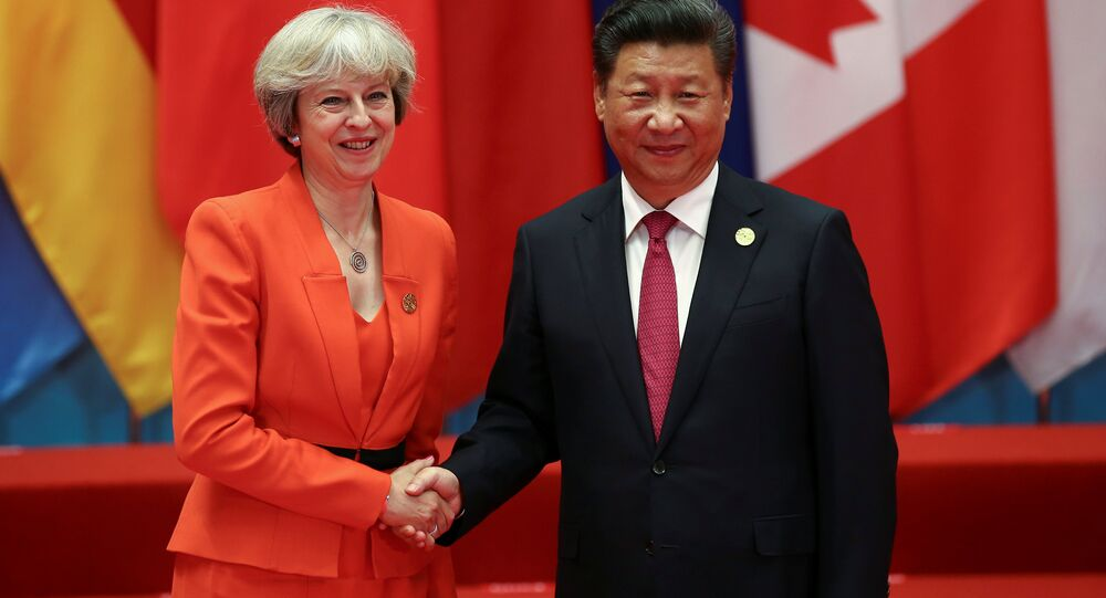 Xi Jinping et Theresa May