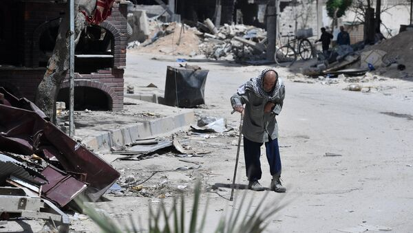 Situation dans la ville syrienne de Douma (photo d'archives) - Sputnik France