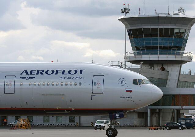 Un Boeing 777 d'Aeroflot à l'aéroport Cheremetievo de Moscou (image d'archives)