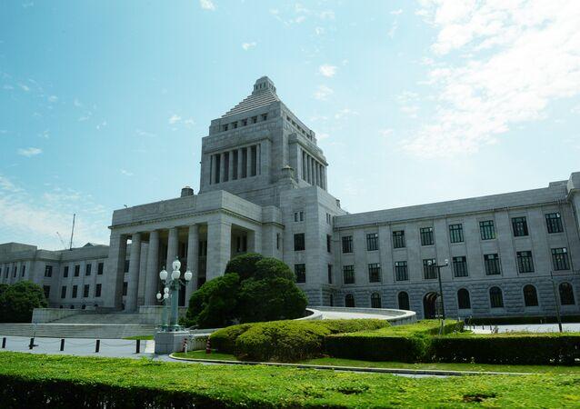 Le bâtiment de la Diète nationale à Tokyo.