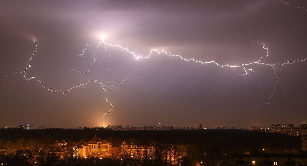 Orage à Moscou / image d'illustration