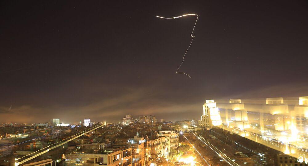 Damas frappée par des missiles US, le 14 avril 2018