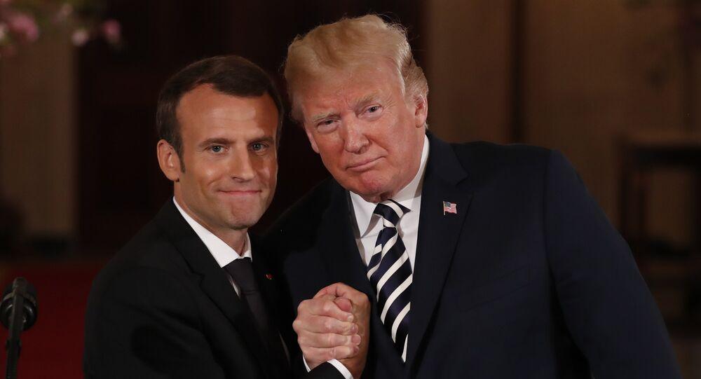 Le Président français Emmanuel Macron et le Président US Donald Trump