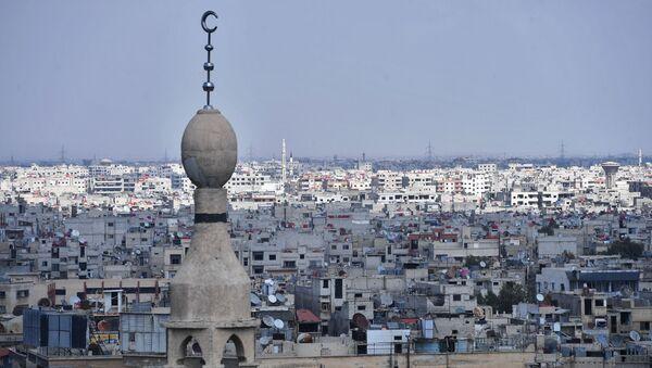 Дома в пригороде Дамаска у лагеря палестинских беженцев Ярмук - Sputnik France