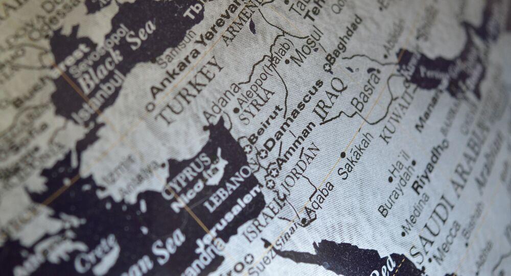 La Syrie sur la carte du monde