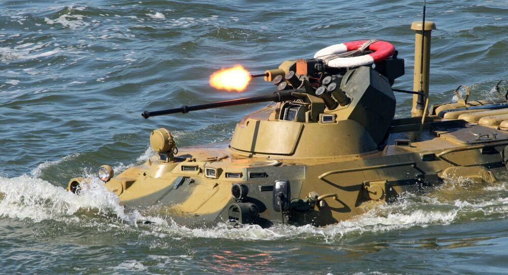 Un blindé amphibie russe BTR-82A (archive photo)