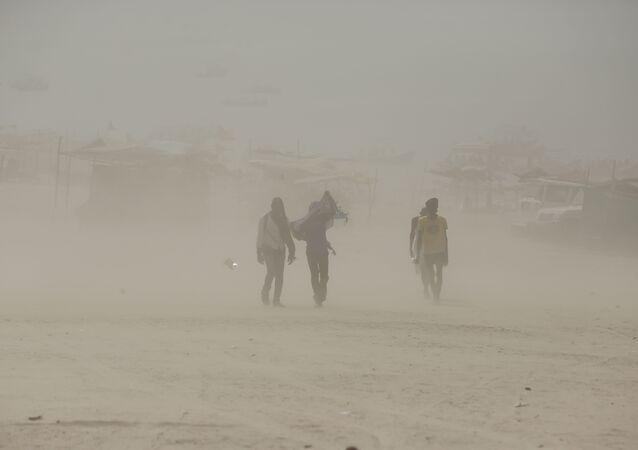 Tempête de sable en Inde
