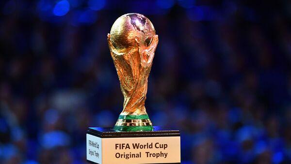 Кубок чемпионата мира по футболу на официальной жеребьевке чемпионата мира по футболу 2018 - Sputnik France