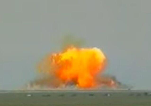 L'explosion d'une munition thermobarique