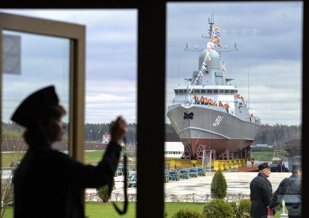 La corvette Chkval de la flotte russe prête pour le grand bain