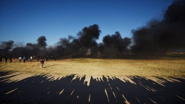 Des dizaines de Palestiniens blessés pas l'armée israélienne à Gaza (image d'illustration) - Sputnik France