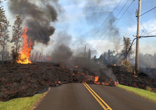 Eruption du volcan Kilauea