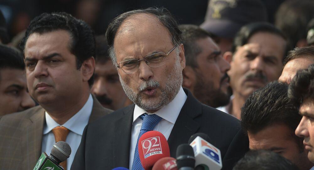 Ahsan Iqbal, ministre pakistanais de l'Intérieur