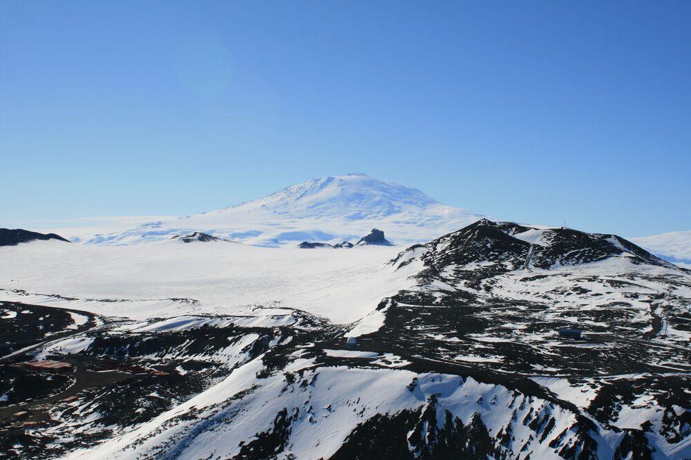 vue sur le volcan Erebus