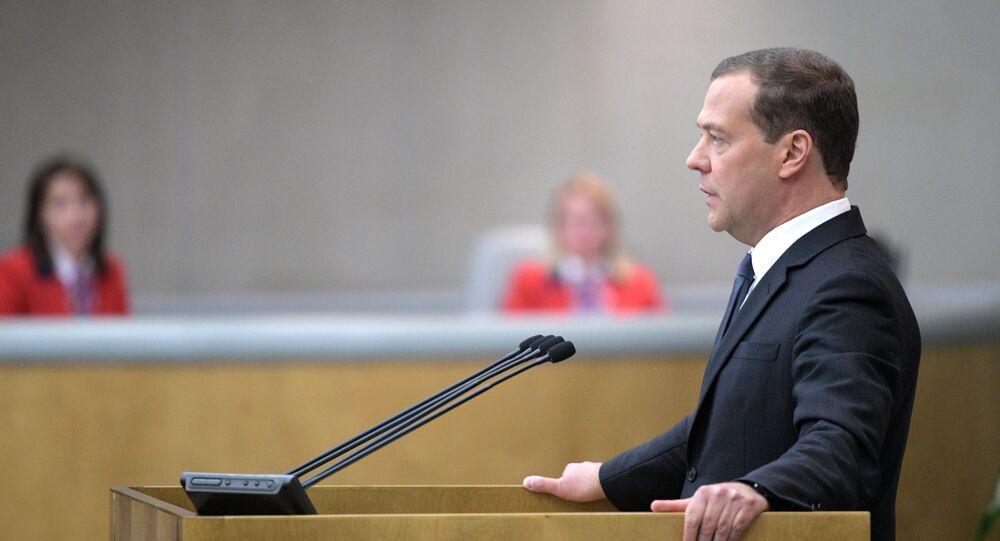 Premier ministre russe Dmitri Medvedev