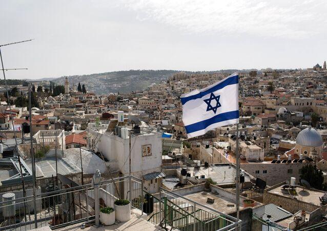 Drapeau israélien à Jérusalem
