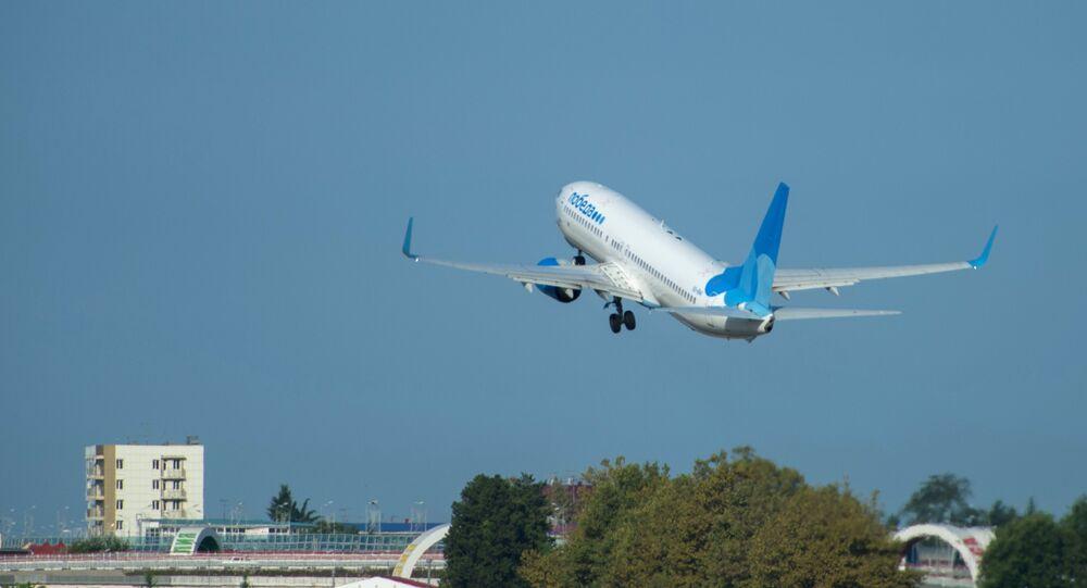 Un Boeing de la compagnie aérienne Pobeda