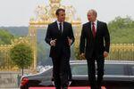 Emmanuel Macron et Vladímir Poutine