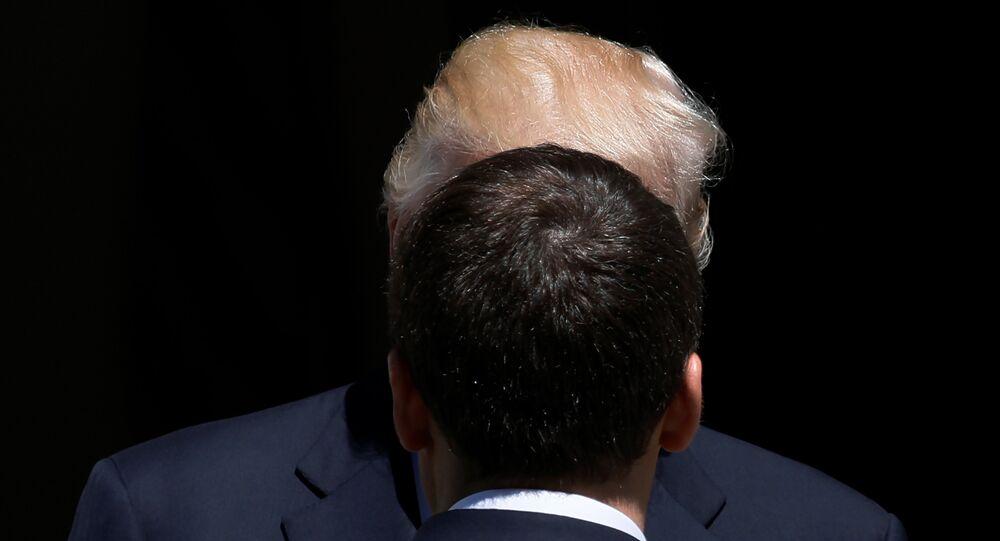 Donald Trump et Emmanuel Macron (image d'illustration)