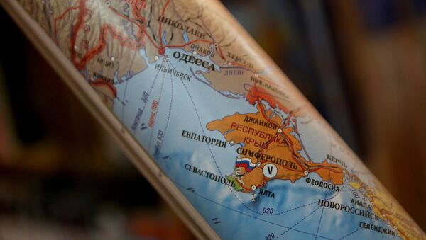 Une carte montrant la Crimée comme une partie de la Russie - Sputnik France