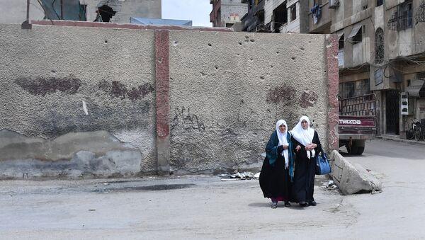Ситуация в районе лагеря беженцев Ярмук в южном пригороде Дамаска - Sputnik France
