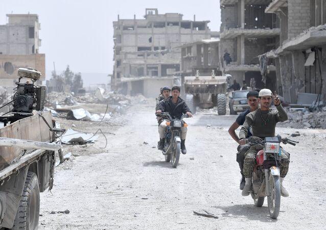 La situation dans le quartier du camp de Yarmouk, dans la banlieue sud de Damas