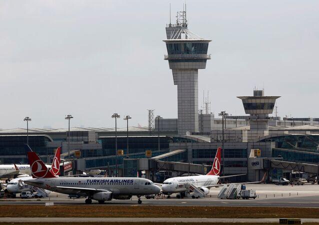 Un avion de Turkish Airlines à l'aéroport d'Istanbul