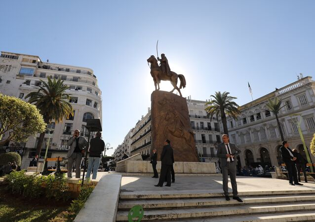 A general view shows the Place de l'Emir Abdelkader in Algiers on December 6, 2017.