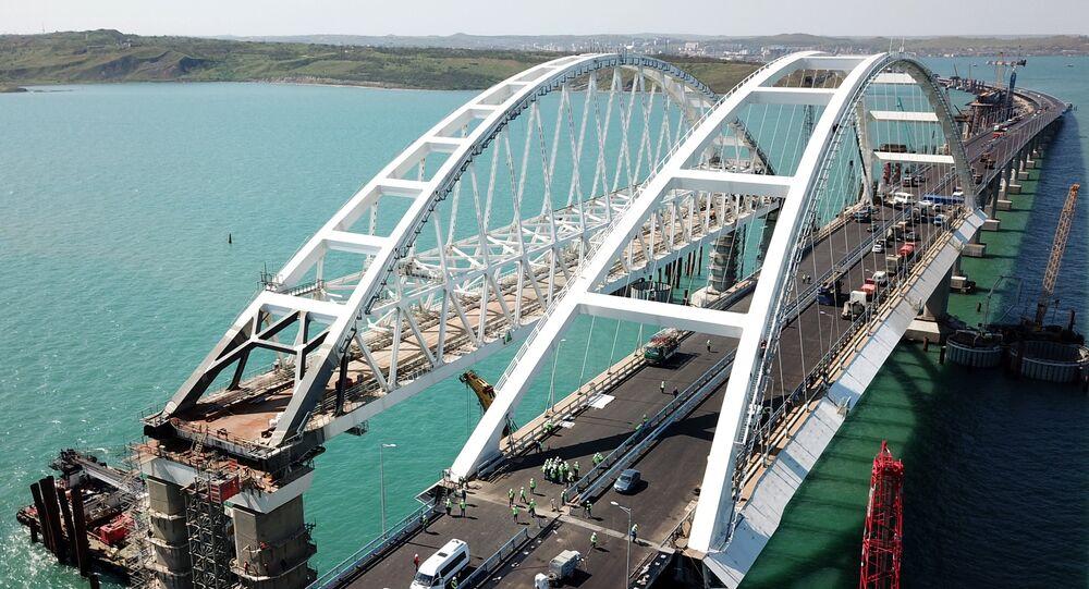 Le chantier du pont de Crimée