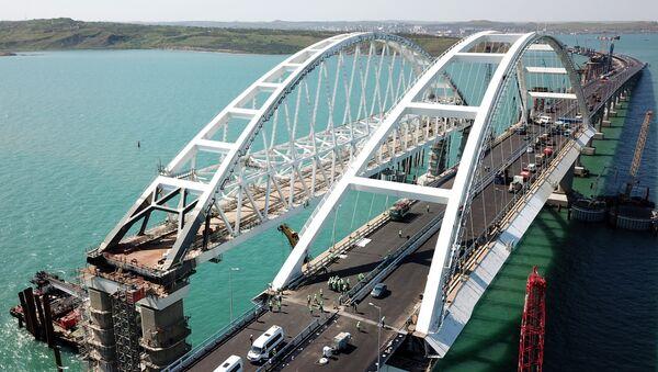 Le chantier du pont de Crimée - Sputnik France