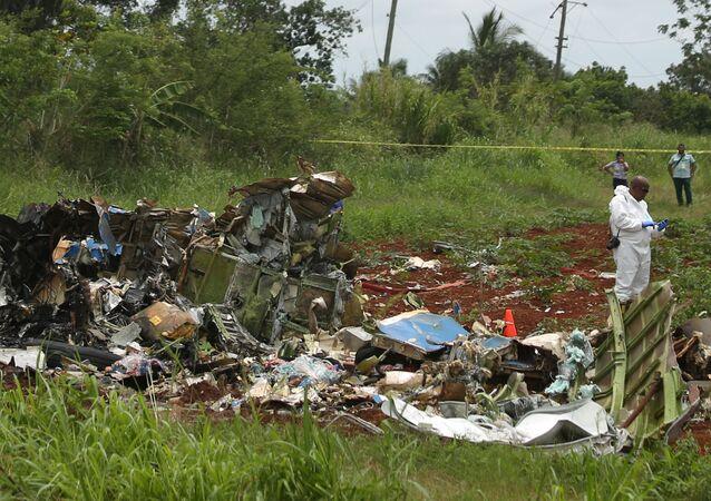 Le lieu du crash du Boeing 737, qui s'était écrasé après son décollage à l'aéroport international José-Marti de La Havane à Cuba