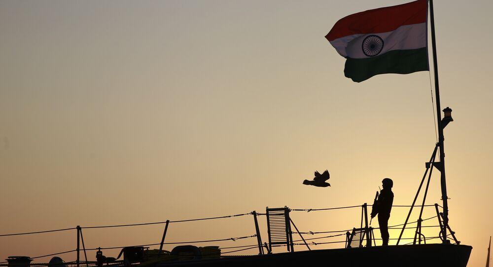 Navire de guerre indien. Image d'illustration