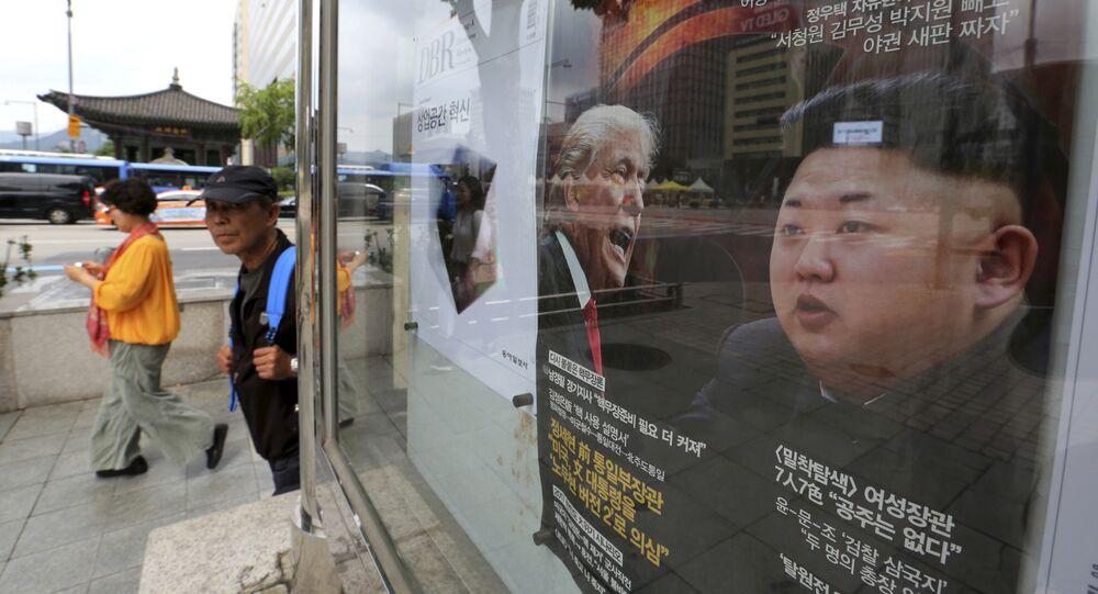 Photos de Donald Trump et de Kim Jong-un