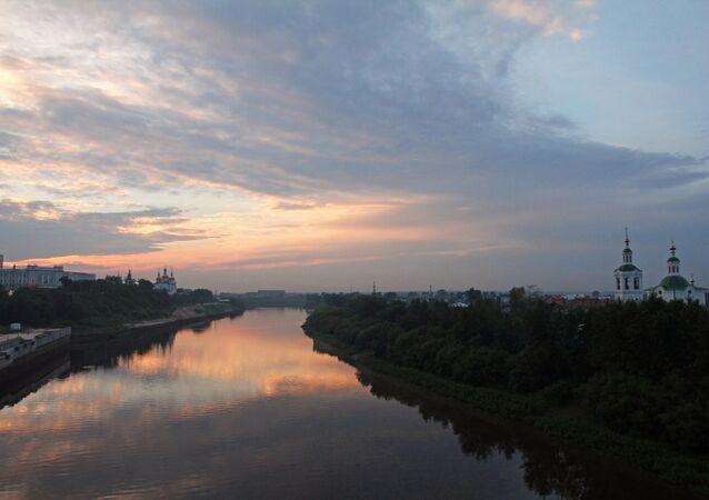 Le fleuve Toura à Tioumen