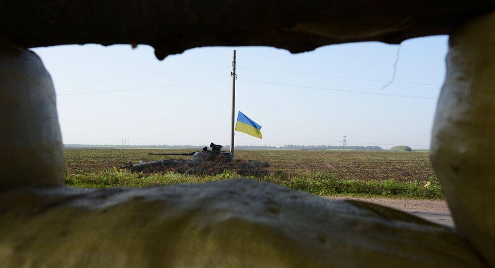 Char ukrainien dans le Donbass. Photo d'archive