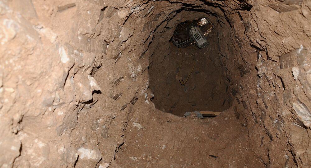 Tunnels creusés par les terroristes en Syrie