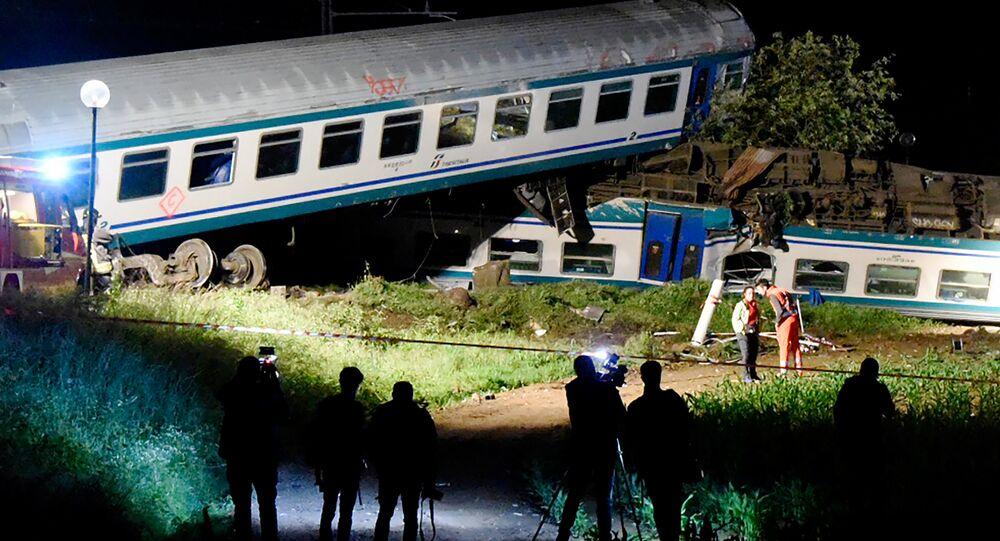 Collision en Italie entre un train et un camion