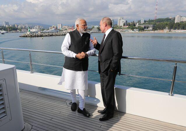 Narendra Modi et Poutine