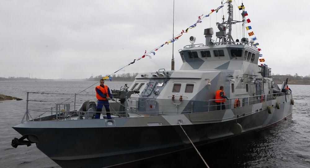 Le navire anti-sabotage Gratchonok