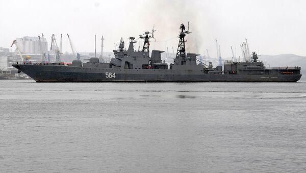 Le destroyer russe Admiral Tributs - Sputnik France