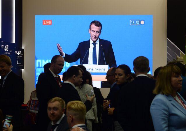 L'intervention d'Emmanuel Macron à la session plénière du SPIEF-2018