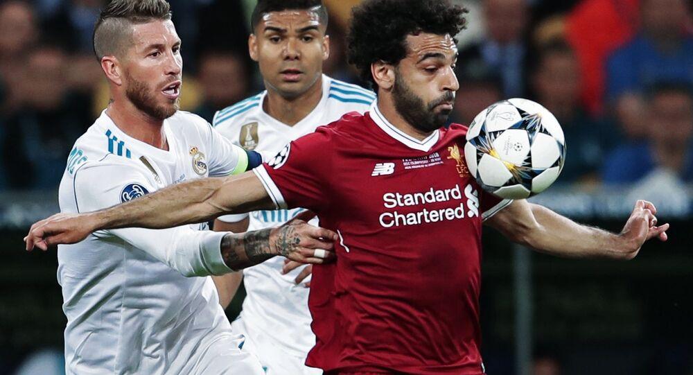 Mohamed Salah pendant la finale de la Ligue des champions
